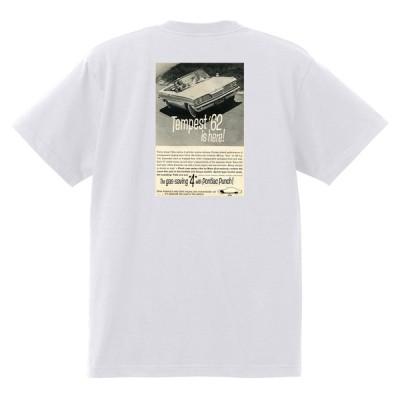 アドバタイジング ポンティアック 424 白 Tシャツ 黒地へ変更可能 1962 グランプリ テンペスト ボンネビル カタリナ アメ車