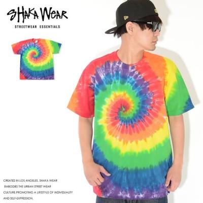 SHAKA WEAR シャカウェア Tシャツ 半袖 総柄 タイダイ柄 ヘヴィーウェイト Super MAX Heavy 7.5oz