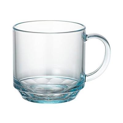 石川樹脂工業 マグカップ クリスタルマグ ブルー 200ml 7 x 9.4 x 7.1 cm 割れないグラス トライタン 食洗機対応 耐熱100度