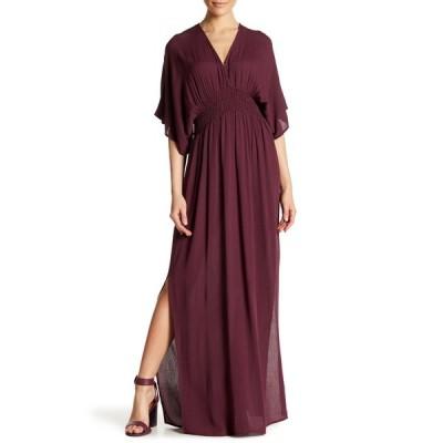 ラブスティッチ レディース ワンピース トップス Gauze Kimono Maxi Dress GRAPE