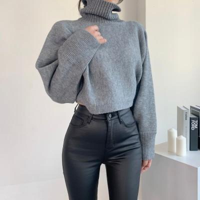 ✨DRESSCAFE✨[韓国ファッション]   Limited item!   (7カラー) かよわく エイフィットタートルネックニット