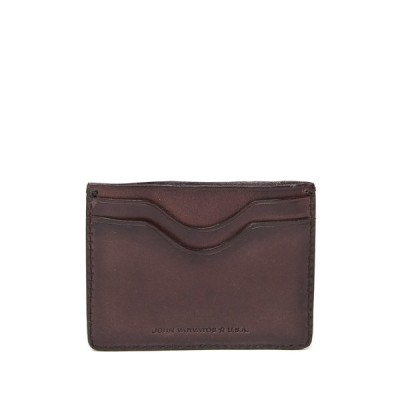 ジョンバルベイトス レディース 財布 アクセサリー Bushwick Unlined Leather Card Case BROWN