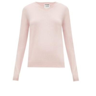 ジル サンダー Jil Sander レディース ニット・セーター Vネック トップス V-neck cashmere sweater Pink