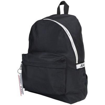 TOMMY JEANS バックパック&ヒップバッグ ブラック リサイクルポリエステル 98% / ポリウレタン 2% バックパック&ヒップバッグ