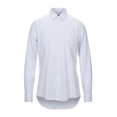 GREY DANIELE ALESSANDRINI 柄入りシャツ  メンズファッション  トップス  シャツ、カジュアルシャツ  長袖 ホワイト