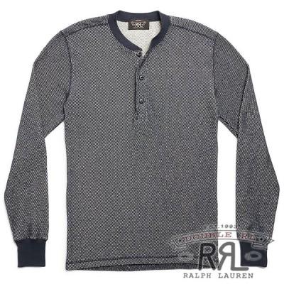 ▼最終価格▼RRL/ダブルアールエル : Cotton-Blend Henley Shirt [コットンジャガード/スタンダードフィット/ヘンリーネック][即日発送]
