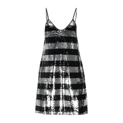 LE VOLIÈRE ミニワンピース&ドレス ブラック M/L 紡績繊維 100% ミニワンピース&ドレス