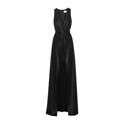 CINQ À SEPT ロングワンピース&ドレス ブラック 8 シルク 100% / トリアセテート / ポリエステル ロングワンピース&ドレス