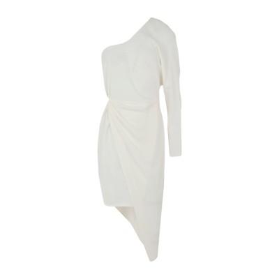 ELISABETTA FRANCHI 7分丈ワンピース・ドレス アイボリー 44 レーヨン 96% / ポリウレタン 4% 7分丈ワンピース・ドレス