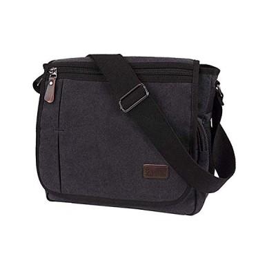 Modoker Laptop Messenger Bag for Men, Canvas Crossbody Bag Fits Most 13 inches Computer, Vintage School Bag, Black