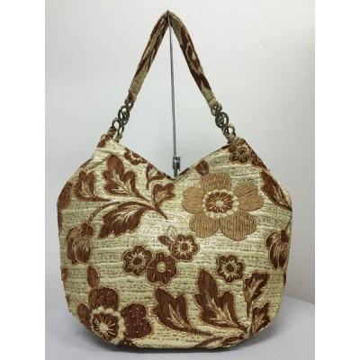 ベトナムバッグ ビーズバッグ チェーントートバッグ 肩掛け 鞄 花柄 ベトナム雑貨 アジアンバッグ