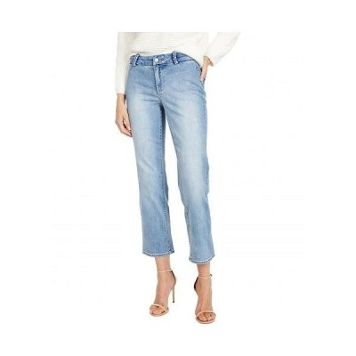 NYDJ エヌワイディージェー レディース 女性用 ファッション ジーンズ デニム Marilyn Straight Ankle Jeans with Braided Belt Loops in Clean Coheed - Cle..