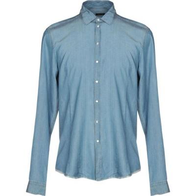 パトリツィア ペペ PATRIZIA PEPE メンズ シャツ デニム トップス denim shirt Blue