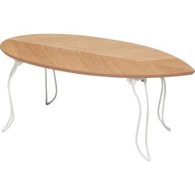 永井興産 リーフテーブル 幅800×奥行400×高さ315mm ナチュラル NK-541NA 1台(直送品)