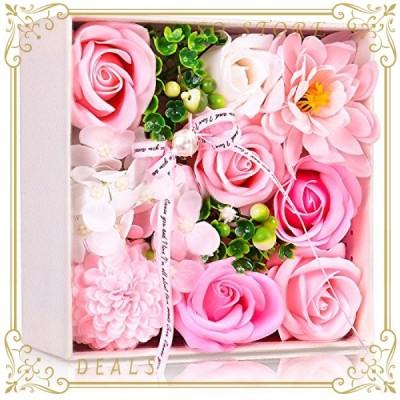 ソープフラワー 創意方形ギフトボックス 誕生日 母の日 記念日 先生の日 バレンタインデー 昇進 転居