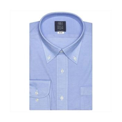 【トーキョーシャツ】 ワイシャツ 長袖 形態安定 ビズポロ ニットシャツ BD 標準体 メンズ メンズ ブルー L41-86 TOKYO SHIRTS