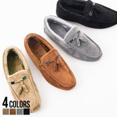 靴 スリッポン メンズ SB select シルバーバレットセレクト ムートンモカシンデッキシューズ 即日発送 シューズ 靴 PUスエード スウェー