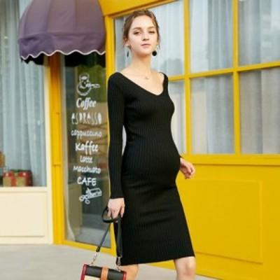 アウター コート アウター 冬 アウター アウトレットマタニティ ドレス 結婚式 お呼ばれ ワンピース  長袖  ロング丈 ゆったり 産前 産後