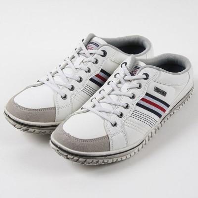 EDWIN エドウィン 7637 カジュアル メンズ ホワイト/ネイビー/レッド 25〜27cm 靴 シューズ スニカジ