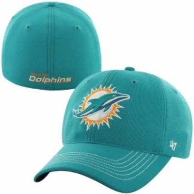 47 フォーティーセブン スポーツ用品  47 Brand Miami Dolphins Aqua Game Time Closer Flex Hat