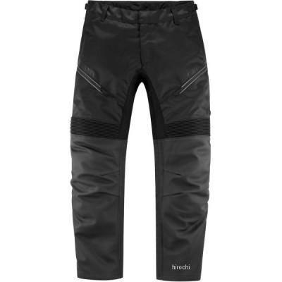 2811-0639 アイコン ICON 春夏モデル パンツ CONTRA2 LEATHER 黒 MDサイズ HD店