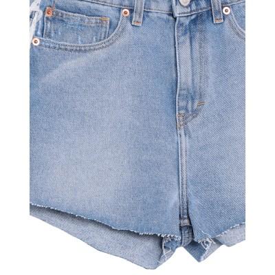 イロ IRO デニムショートパンツ ブルー 24 コットン 100% デニムショートパンツ