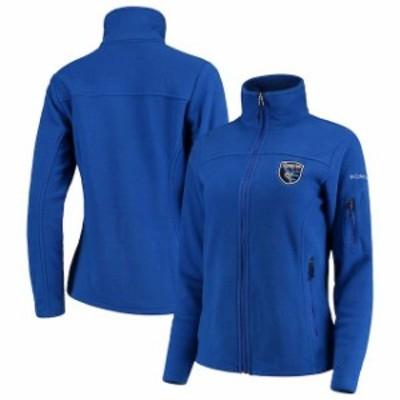 Columbia コロンビア スポーツ用品  Columbia San Jose Earthquakes Womens Blue Give & Go Full-Zip Jacket