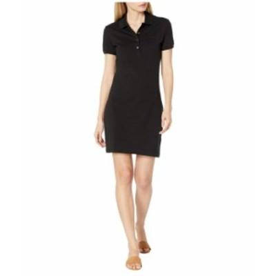 ラコステ レディース ワンピース トップス Short Sleeve Slim Fit Stretch Pique Polo Dress Black