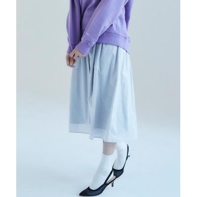 (fredy emue/フレディエミュ)[新色追加]【Gigi】綿ローンギャザースカート/レディース ライトグレー