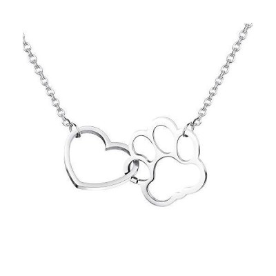 JOERICA Stainless Steel Pendant Necklace for Women Girls Silver-Tone