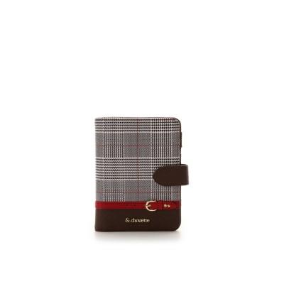 アンドシュエット & chouette グレンチェックパスポートケース (レッド)