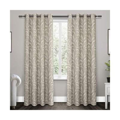Exclusive Home Curtains Kilberry 織りブラックアウトグロメットトップカーテンパネル ペア 52x96インチ ドーブグレ
