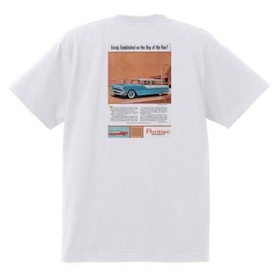 アドバタイジング ポンティアック 490 白 Tシャツ 黒地へ変更可能 1955 チーフテン スターチーフ ローレンシャン カタリナ ホットロッド