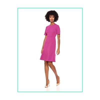 Donna Morgan Women's Split Sleeve Fit and Flare Dress, Raspberry, 0並行輸入品