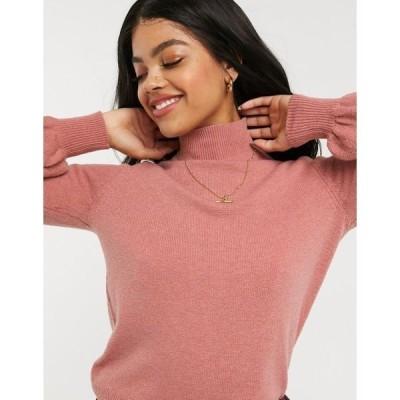 オアシス レディース ニット&セーター アウター Oasis balloon sleeve sweater in pink Pink