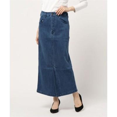 スカート デニムロングスカート