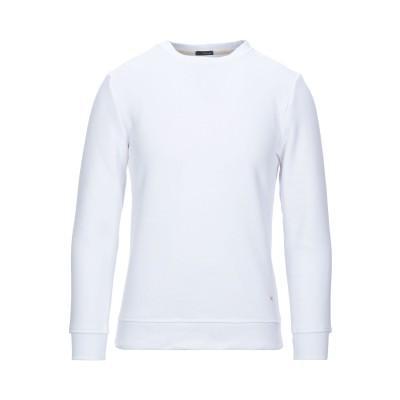 プラスピープル (+) PEOPLE スウェットシャツ ホワイト M コットン 100% スウェットシャツ