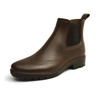 エニーウォーク 防水 レインシューズ サイドゴア ブーツ ビジネス