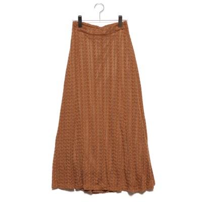スタイルブロック STYLEBLOCK 模様編みマーメイドスカート (キャメル)