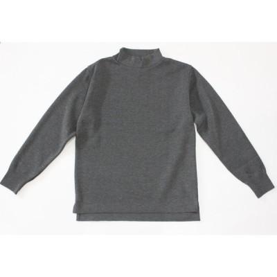 バーンズ barns outfitters ウールミラノリブ ハイネックセーター
