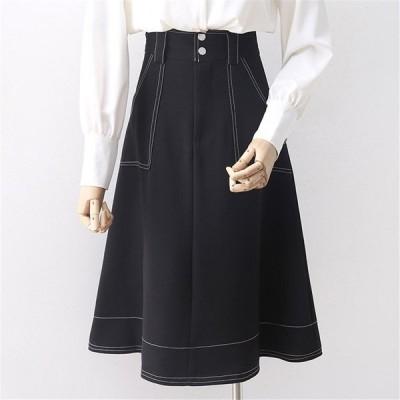 大きいサイズ  レディース スカート ポケット カジュアル M〜4XL LL 2L 3L 4L 5L 春夏秋