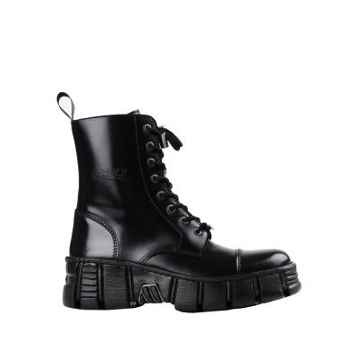 NEW ROCK ショートブーツ ブラック 41 革 ショートブーツ