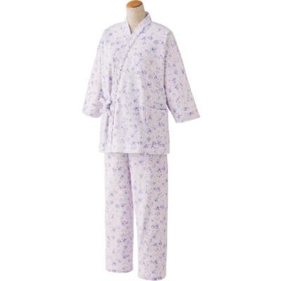 【愛情介護 Active】婦人打合せパジャマ M〜L 8分袖 【年間素材】