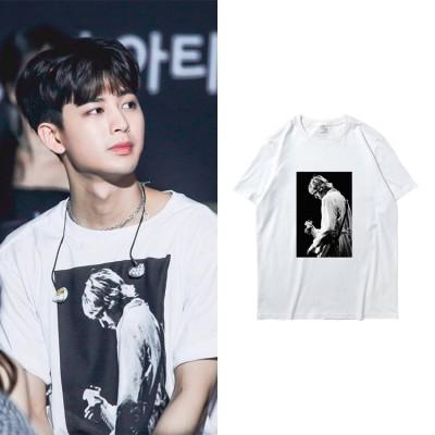 大人気! IKON週辺YunHyeong半袖Tシャツ 韓国ファッション tシャツ 男女兼用 トップス 韓国 メンズ レディース