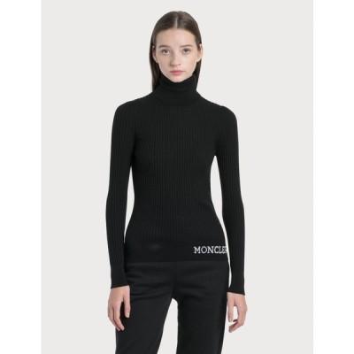 モンクレール Moncler レディース ニット・セーター トップス jacquard logo knit sweater Black