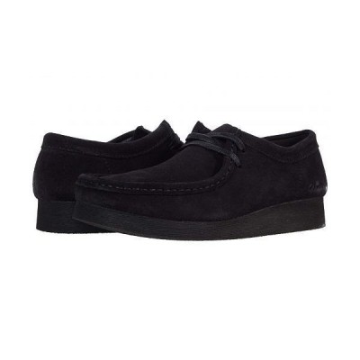 Clarks クラークス レディース 女性用 シューズ 靴 スニーカー 運動靴 Wallabee 2 - Black Suede