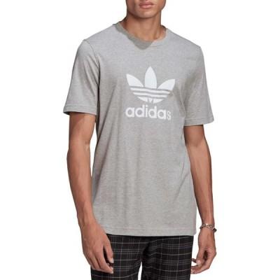 アディダス adidas メンズ Tシャツ トップス Trefoil T-Shirt Medium Grey Heather/White