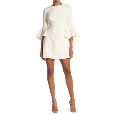 ライクリー レディース ワンピース トップス Mallory Bell Sleeve Mini Dress WHT