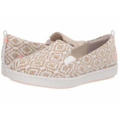 Clarks クラークス レディース 女性用 シューズ 靴 スニーカー 運動靴 Step Glow Slip Natural/White Weave【送料無料】