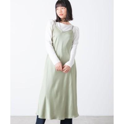 【ウィゴー】ロンTセットサテンキャミワンピース